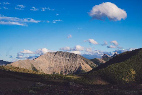 Vyhled na horu Gladstone Mountain.